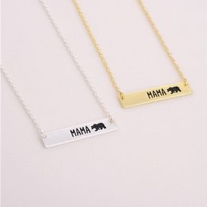 Jewelry - 🐻Mama Bear Bar Necklace🐻